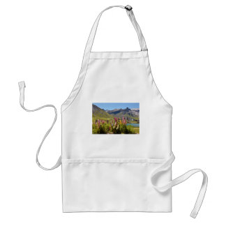 Lake of Tignes and flowers in France Adult Apron