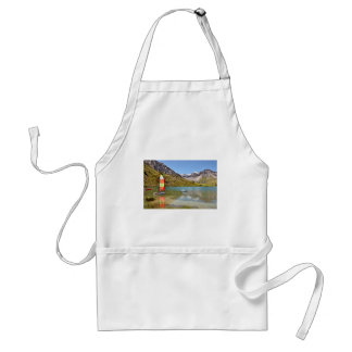 Lake of Tignes in France Adult Apron