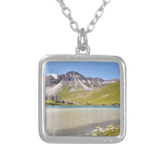 Lake of Tignes in France Necklace
