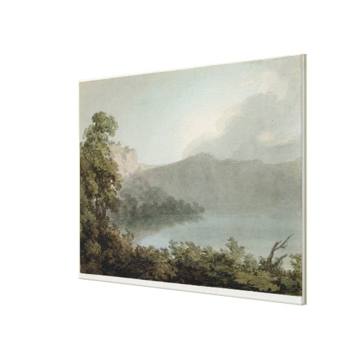 Lake of Vico Between Rome and Florence, 1783 (grap Canvas Print