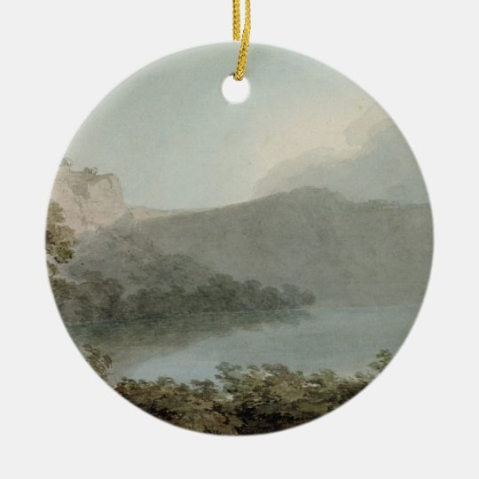 Lake of Vico Between Rome and Florence, 1783 (grap Ceramic Ornament