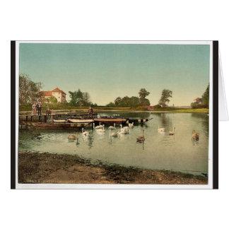 Lake of Worlitz, Eichenkranz and Gondelplatz, Anha Greeting Card