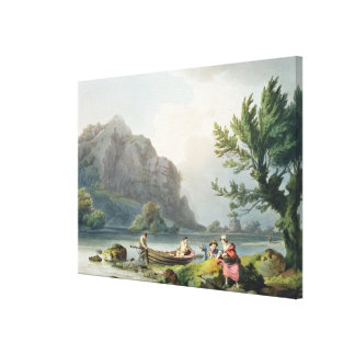 Lake of Wyndermere, from 'The Romantic and Picture Canvas Print