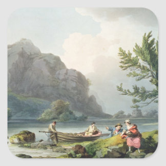 Lake of Wyndermere, from 'The Romantic and Picture Square Sticker