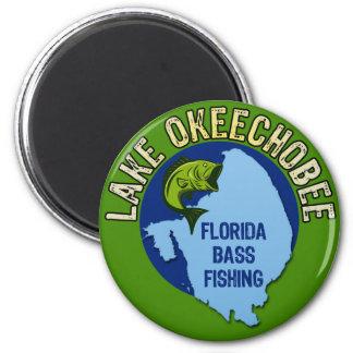 Lake Okeechobee, Florida Bass Fishing 2 Inch Round Magnet