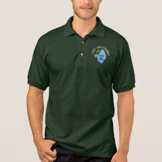 Lake Okeechobee, Florida Bass Fishing Polo Shirt
