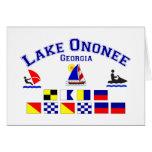 Lake Ononee GA Signal Flags Card