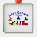 Lake Ononee GA Signal Flags Christmas Ornament