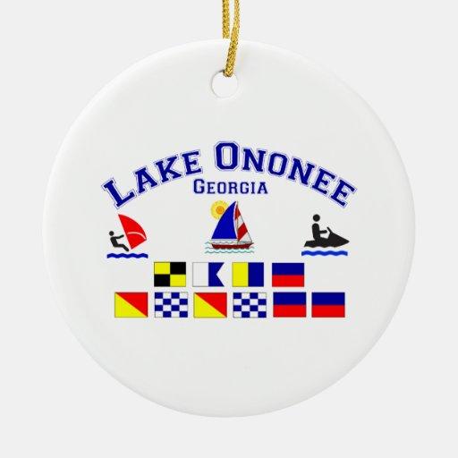 Lake Ononee GA Signal Flags Ornament