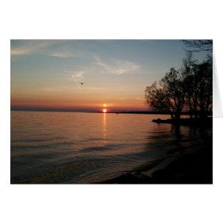 Lake Ontario at sunset Card