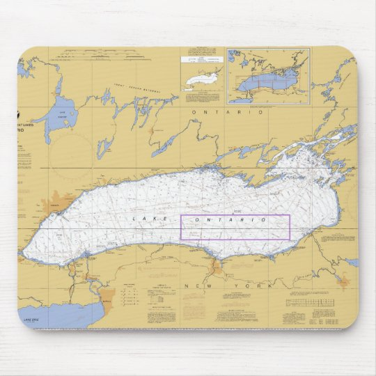 Lake Ontario Nautical Chart Mouse Pad