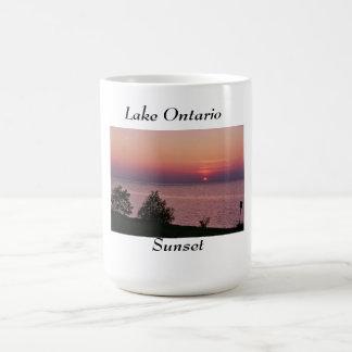 Lake Ontario Sunset Classic White Coffee Mug