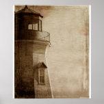 Lake Ontario Vintage Light house photography Poster