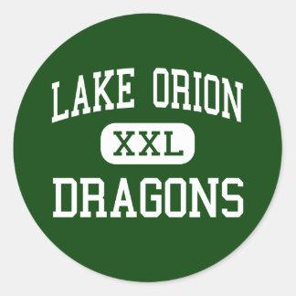 Lake Orion - Dragons - High - Lake Orion Michigan Classic Round Sticker