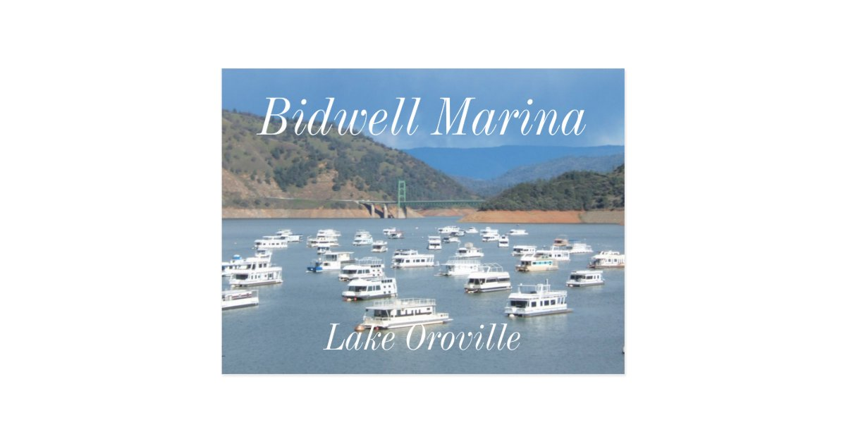 Lake Oroville, Bidwell Marina Postcard   Zazzle.com