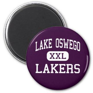 Lake Oswego - Lakers - High - Lake Oswego Oregon 2 Inch Round Magnet