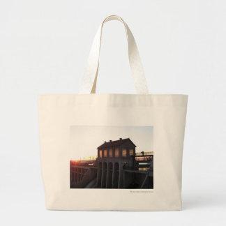Lake Overholser Dam Jumbo Tote Bag