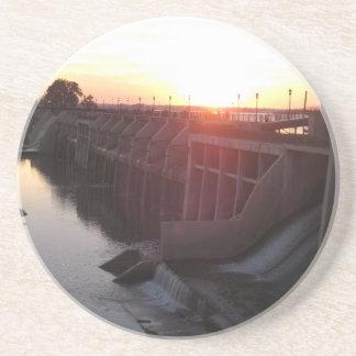Lake Overholser Dam Beverage Coaster