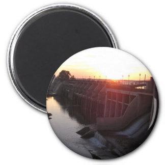 Lake Overholser Dam 2 Inch Round Magnet