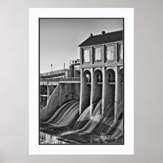 Lake Overholser Dam, Oklahoma Poster