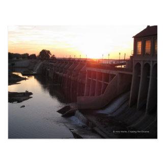 Lake Overholser Dam Postcard