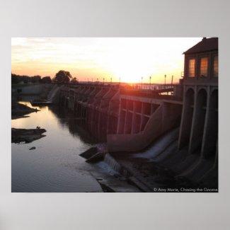 Lake Overholser Dam print
