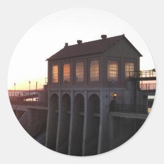 Lake Overholser Dam Classic Round Sticker
