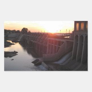 Lake Overholser Dam Rectangular Sticker