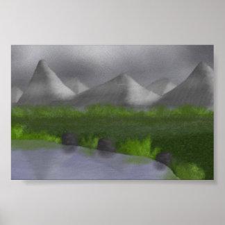 Lake Painting Poster