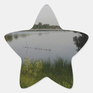Lake Paradise Star Sticker