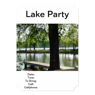Lake Party Fishing Picnic Barbecue Family Reunion 5x7 Paper Invitation Card