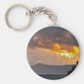 Lake Pend Oreille Storm Clouds Key Chain
