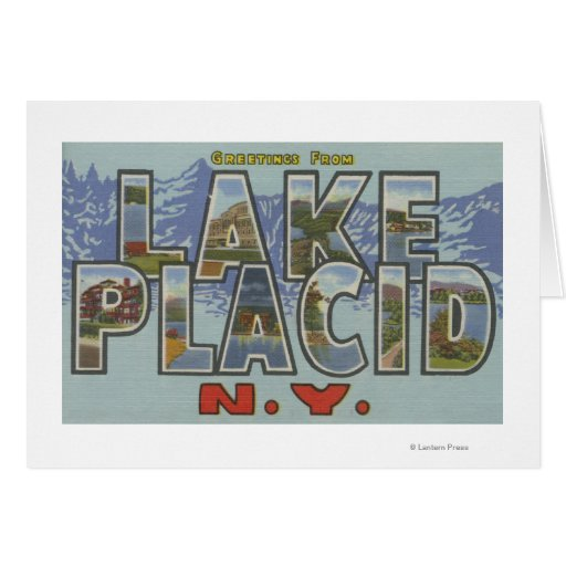 Lake Placid, New York - Large Letter Scenes Cards