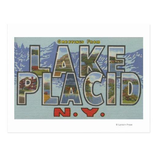 Lake Placid, New York - Large Letter Scenes Post Card