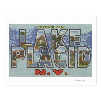 Lake Placid, Nueva York - escenas grandes de la Tarjeta Postal