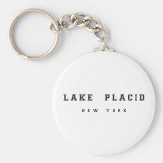 Lake Placid Nueva York Llavero Redondo Tipo Pin