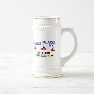 Lake Placid NY Signal Flags Coffee Mugs