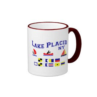 Lake Placid NY Signal Flags Coffee Mug