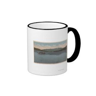 Lake Placid, NY - View of Steamer Doris Coffee Mug
