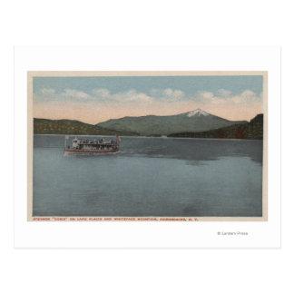 Lake Placid, NY - vista del vapor Doris Tarjetas Postales
