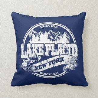 Lake Placid Old Circle Blue Throw Pillow