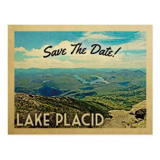 Lake Placid Save The Date Vintage Postcards