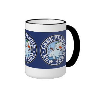Lake Placid Snowman Circle Coffee Mug