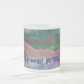 Lake Pleasant Mountains Abstract Frosted Mug