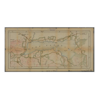 Lake Pleasant New York Vintage Map Poster