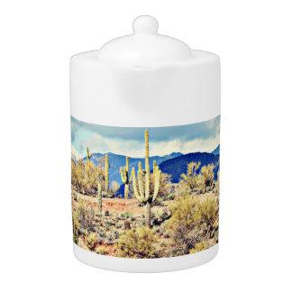Lake Pleasant Saguaro Landscape Tea Pot