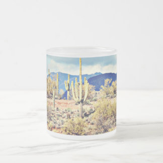 Lake Pleasant Saguaros/Mountains Frosted Mug