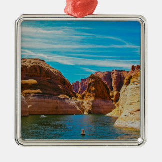 Lake Powell, Arizona Square Metal Christmas Ornament