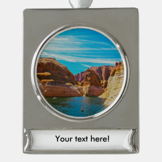 Lake Powell, Arizona Silver Plated Banner Ornament