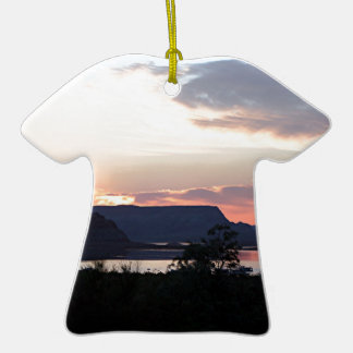 Lake Powell at sunset, Arizona, USA Double-Sided T-Shirt Ceramic Christmas Ornament